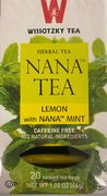 Lemon and nana mint tea (20 bags)