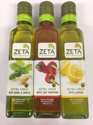 3 x 250ml flavoured extra virgin olive oil