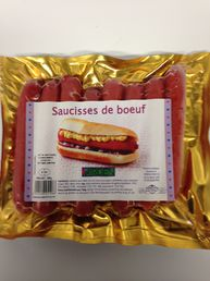 Beef hot dogs 400g